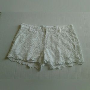 Pants - Lucky Brand White Floral Lace Shorts Size 29